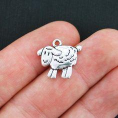 BULK 50 Sheep Charms Antique Silver Tone 2 by BohemianFindings