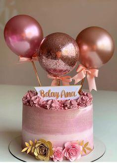 Birthday Cake Roses, Elegant Birthday Cakes, Beautiful Birthday Cakes, Birthday Cakes For Women, Birthday Cake Girls, Birthday Cake Toppers, Birthday Cake For Women Elegant, Baby Shower Cake Decorations, Baby Shower Cupcake Toppers