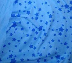 BLUE STARS KNIT Fabric: Cotton Interlock Knit  -siu