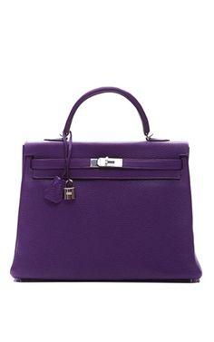 9468d91f9c HERMES~35Cm Ultra Violet Clemence Leather Kelly by Janny Dangerous Hermes  Kelly Bag