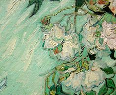 Vincent van Gogh, Detail from Vase with Pink Roses, 1890
