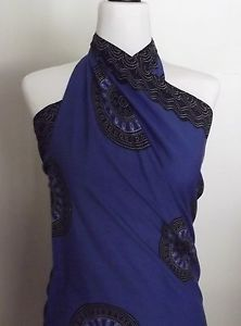 Sarong-Wrap-Skirt-Beach-cover-up-Colour-Blue-Brand-New-Rayon