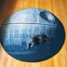 Rug really ties the room together. —becksofbritGet this rug on Think Geek for $59.99.