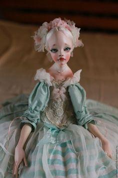 """Коллекционные куклы ручной работы. Заказать Кукла """"Пепперминт"""". Володина Маша. Ярмарка Мастеров. Салатовый, кукла в подарок"""