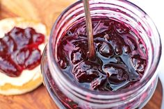 This Cherry Jam is so quick and simple to make with just 3 ingredients. With a soft set and bursting with chunks of cherry this jam is off the scale good! Fruit Jam, New Fruit, Freezer Jam Recipes, Cooking Recipes, Sour Cherry Jam, Compote Recipe, Cinnamon Chips, Cherry Recipes, Fruit Party