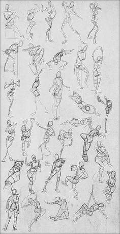 Andantonius on deviantART Gesture drawings