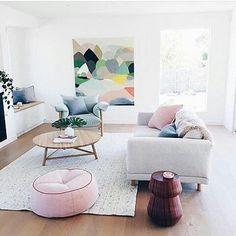 Pastel colors for Scandinavian decor