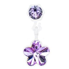Blomdahl MP Pendant Flower 4/6mm Violet D