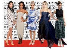 Dressed to Thrill - From left: Alicia Vikander, Naomie Harris, Vittoria Puccini, Melanie Laurent, Alma Jodorowsky