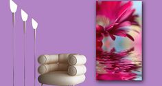 Water Flower photos printed on framed canvas