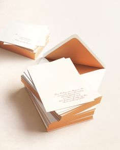You have your wedding stationery suite ready to go. Now learn the details for getting your invites on their way, and safely into your guests' hands. From the dos and don'ts of writing the address line to assembling all the pieces in the proper order, these must-know wedding invitation tips will help you mail your invites without a hitch.