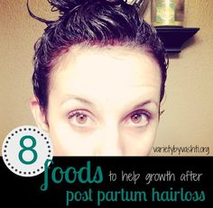 8 food to help your postpartum hair loss