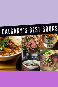 These Calgary restaurants serve piping hot bowls of comfort food Calgary Restaurants, Canadian Food, Soups And Stews, Wine Recipes, Bowls, Beef, Dining, Hot, Travel
