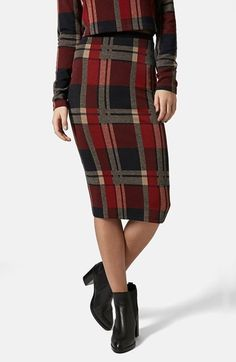 Free shipping and returns on Topshop Check Tube Skirt at Nordstrom.com. A body-con tube skirt is topped with an elastic waistband for easy pull-on styling and decked out in rich blanket checks.