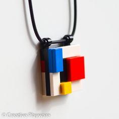 DE STIJL - GERRIT No. 5 - 3D pendant made with LEGO® elements. #Mondrian #deStijl #CreativePlayware