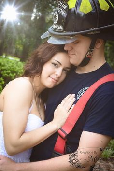 Couple photography firefighter love romantic photography