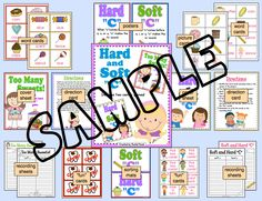 "***NEW***  Your class will have fun learning about the hard and soft ""c"" sounds with these two center games!   In Too Many Sweets, students select words cards and read them aloud. They may pick as many cards as they like during their turn but must be careful they don't get a ""cavity"" card!  In Hard or Soft ""C"", students select word cards, read the words aloud and place the cards on the correct sorting mat. There are ""fun"" cards in the deck so they must be on the look out!"