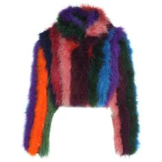 Moschino Multicolored-Fur Jacket ($2,070) ❤ liked on Polyvore featuring outerwear, jackets, jacket's, multicolor, moschino, multi colored fur jacket, multi-color leather jackets, colorful jackets and multi color fur jacket