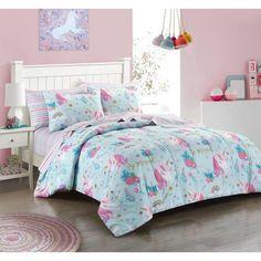 Unicorn Room Decor, Unicorn Bedroom, Unicorn Bed Set, Magical Unicorn, Bed In A Bag, Bedroom Themes, Bedroom Ideas, Teen Girl Bedrooms, My New Room