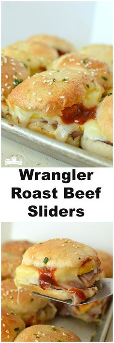 Wrangler Roast Beef Sliders! Easy recipe you will find yourself making again and again!