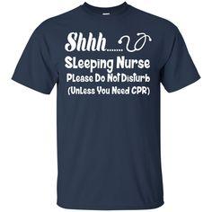 Job Nurse T shirts Sleeping Nurse Please Do Not Disturb Hoodies Sweatshirts