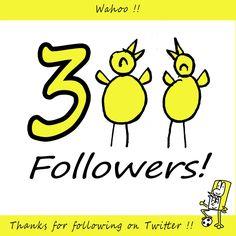 Wahoo 300 Followers on Twitter