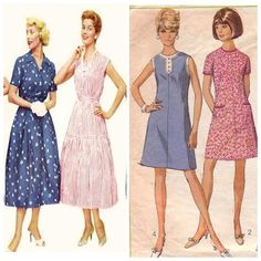 Women's fashion underwent many changes from the 1950s to the 1960s. In the 60s, women's clothes reflected the sentiment of the decade, becoming less conservative and more free. Among some of the changes were brighter colors and shorter length skirts and dresses, rising as high as a few inches above the knee.