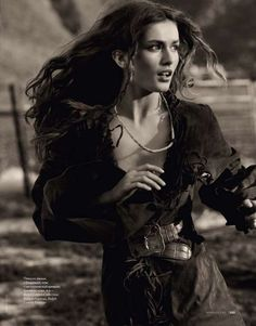 """Romantic Ranch Photography - ELLE Russia """"Wild at Heart"""" Editorial Features Cowgirl Fashion (GALLERY)"""