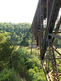 High Bridge railroad bridge that expands the Kentucky River, at High Bridge, Kentucky--from Jessamine County to Mercer County