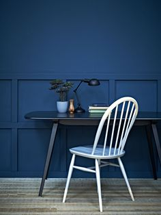 Ercol are the masters of stylish retro-inspired furniture. Get the look with this plank table and Windsor chair.