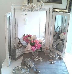 photo of shabby chic mirror - Yahoo! Search Results diy painted mirror shabby chic  www.farmchic.co.uk