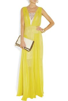 $350 and Up: By Malene Birgers silk chiffon gown ($875) is the beautiful option for a beach or black-tie wedding party, depending on how you accessorize the look.