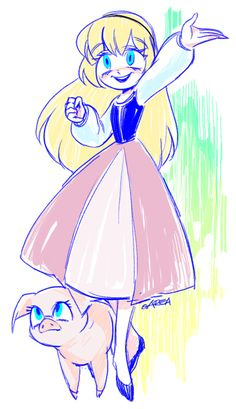 Hi!!! This is My drawing of princess Eilonwy from Disney The Black cauldron!!! It's based on Rapunzel's wall paintings