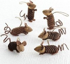 Kids Crafts, Christmas Crafts For Kids, Fall Crafts, Christmas Diy, Kids Diy, Holiday Crafts, Primitive Christmas, Country Christmas, Mouse Crafts