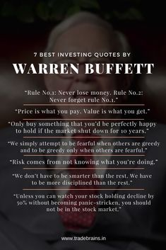 "e541a6749b80 7 Best Investing Quotes By Warren Buffett -""Price is what you pay. Value"