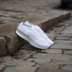 The Nike Flyknit Racer with an all white upper will be released online on March 8th. #sneakersnstuff #nikerunning #flyknitracer #flyknit