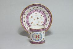 SÈVRES - Gobelet litron et sa soucoupe - XVIIIe siècle, Bils Ceramiques, Proantic