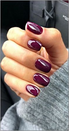 40 Stylish Easy Nail Polish Art Designs for This Summer for 2019 Part nail polish colors; nail polish crafts Nagellackfarben 40 Stylish Easy Nail Polish Art Designs for This Summer for 2019 - Page 16 of 40 Stylish Nails, Trendy Nails, Cute Nails, Nail Polish Crafts, Nail Polish Art, Purple Nail Polish, Fall Nail Art Designs, Nail Polish Designs, Nails Design