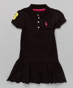 Another great find on #zulily! Black Polo Drop-Waist Dress - Infant, Toddler & Girls #zulilyfinds