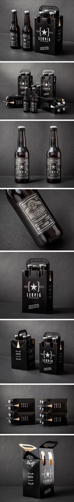 Lervig Anniversary by Daniel Brokstad PD (Bottle Packaging) Cool Packaging, Beverage Packaging, Bottle Packaging, Brand Packaging, Beer Label Design, Beer Brands, Design Poster, Bottle Design, Packaging Design Inspiration