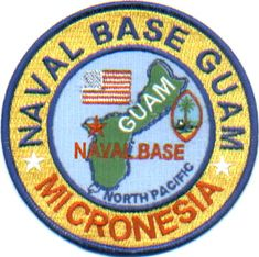 US Navy Base Patch Guam Naval Base Micronesia | eBay