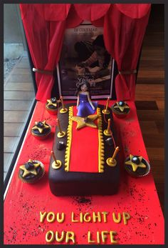 A 10 year old young actresses' birthday. Red Carpet themed cake :)