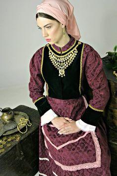 The traditional costume of Island Crete (Greece) Mediterranean People, Joan Smalls, Crete Greece, Pretty Dresses, Greek, Island, Costumes, Traditional, Fashion
