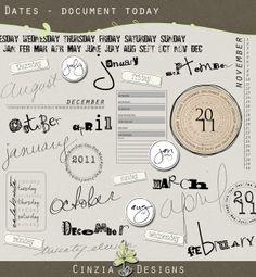 Document Today word art #freebie from Cinzia Designs #scrapbook #digiscrap #scrapbooking #digifree #scrap