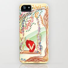 Vibrant Jungle Fox iPhone & iPod Case by famenxt - $35.00