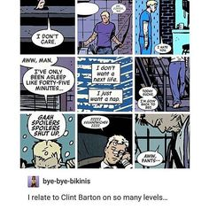and in that moment we were all clint barton