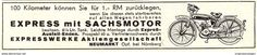 Werbung - Original-Werbung/ Anzeige 1935 - EXPRESS MOPED MIT SACHSMOTOR / EXPRESSWERKE - NEUMARKT BEI NÜRNBERG - ca. 140 x 30 mm