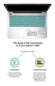 Türkis Mint Asus Tastatur Aufkleber Tastatur Decals Asus Laptop Haut Laptop RS Asus Zenbook Aufkleber Asus Decal Asus Haut Mint Türkis