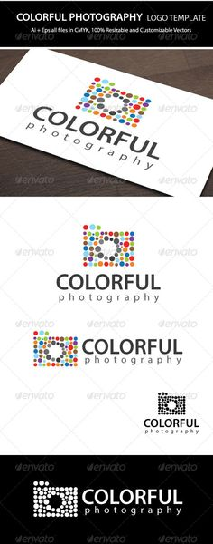 Colorful Photography  - Logo Design Template Vector #logotype Download it here: http://graphicriver.net/item/colorful-photography-logo-template/5733666?s_rank=1484?ref=nesto