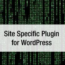 Site Specific plugin for Wordpress